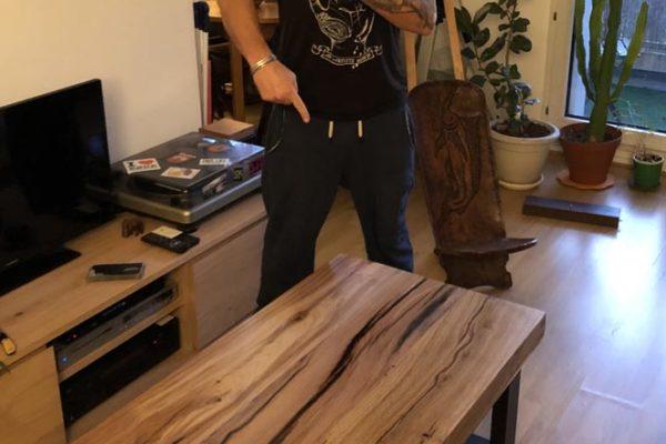 chêne massif 8cm